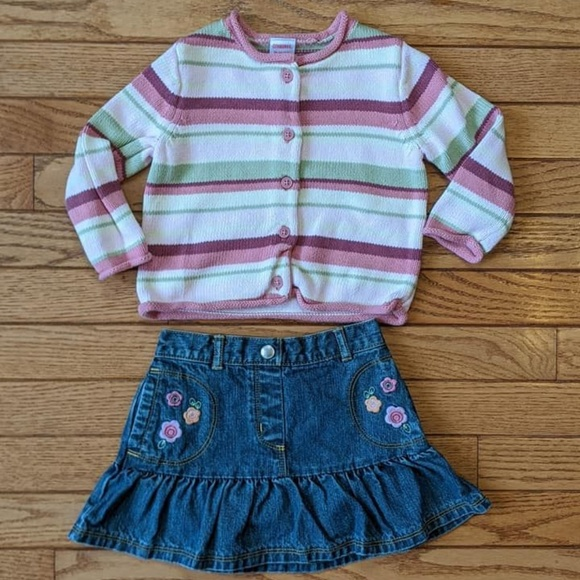 Gymboree Other - Stripe Sweater and Denim Skirt Gymboree